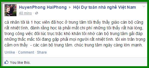 Huyen Phong khen ngoi trung tam dao tao GXD