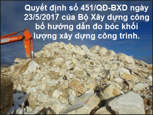 Học tin học văn phòng xây dựng qua Quyết định 451/QĐ-BXD đo bóc khối lượng