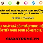 Văn bản số 1158/BXD-KTXD của Bộ Xây dựng hướng dẫn cập nhật giá gói thầu thực hiện chuyển tiếp Nghị định số 68/2019/NĐ-CP