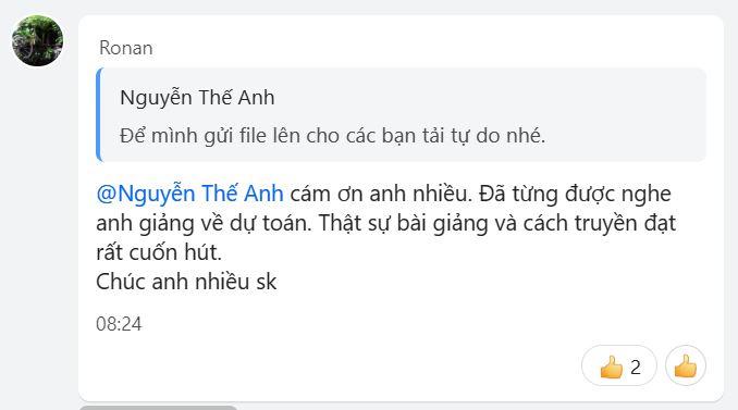 Thầy Nguyễn Thế Anh dạy dự toán rất cuốn hút